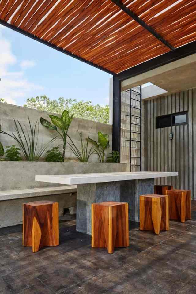 トゥルムメキシコの活気に満ちた家T-House homesthetics architecture(6)