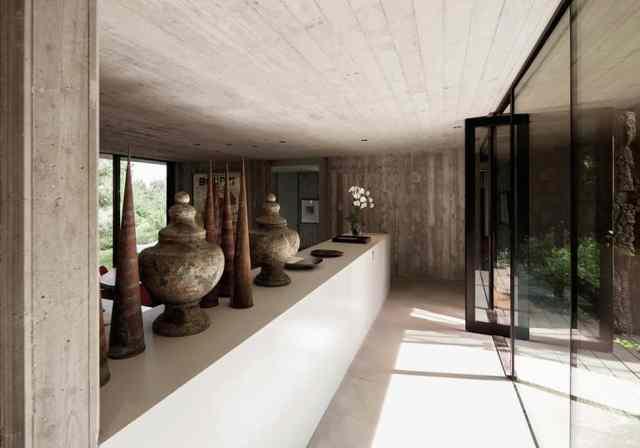 プライベートサントロペレジデンスの大胆なコンクリートとガラスの組成(8)