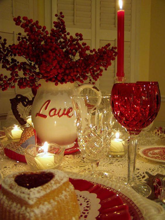 キャンドルでロマンチックなバレンタインデーを飾る