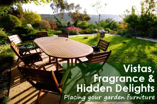 あなたの庭の家具を配置するためのアイデア