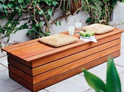 収納ガーデンベンチ