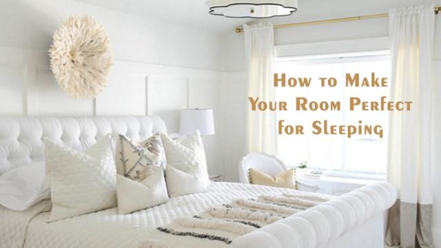 部屋を眠りに最適にする方法