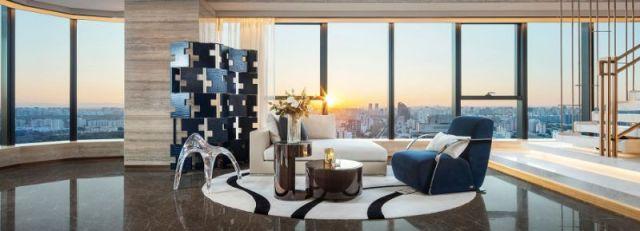 """モダンデザインラグジュアリーモダンデザインアボード–  """" FENDI Apartment""""  CCDによる設計CCDによって設計されたラグジュアリーモダンアボードフェンディアパートメント"""
