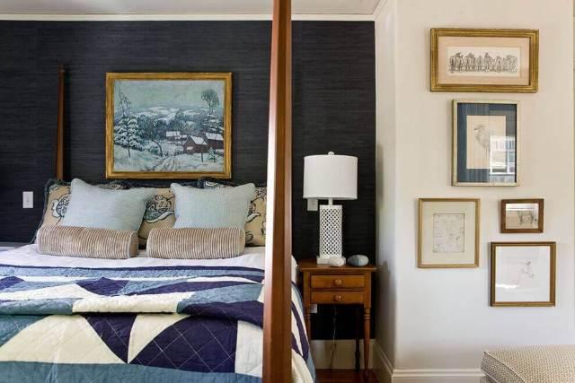 スタイリッシュな寝室のインテリアデザインのアイデア