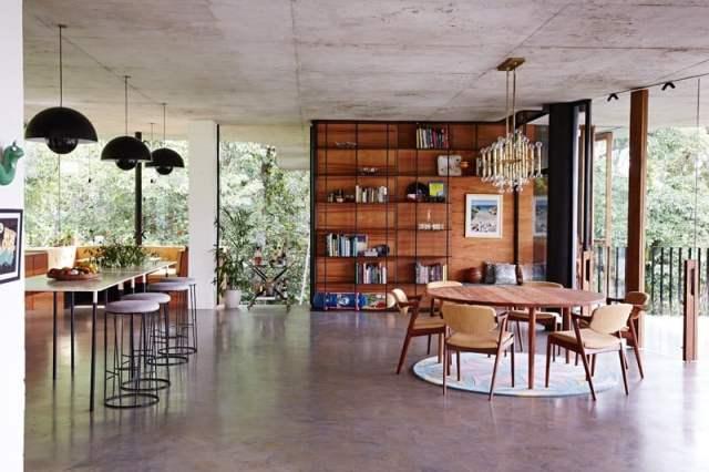 彫刻的コンクリートの美学によって定義されたオーストラリアの熱帯プランコネラハウス(10)