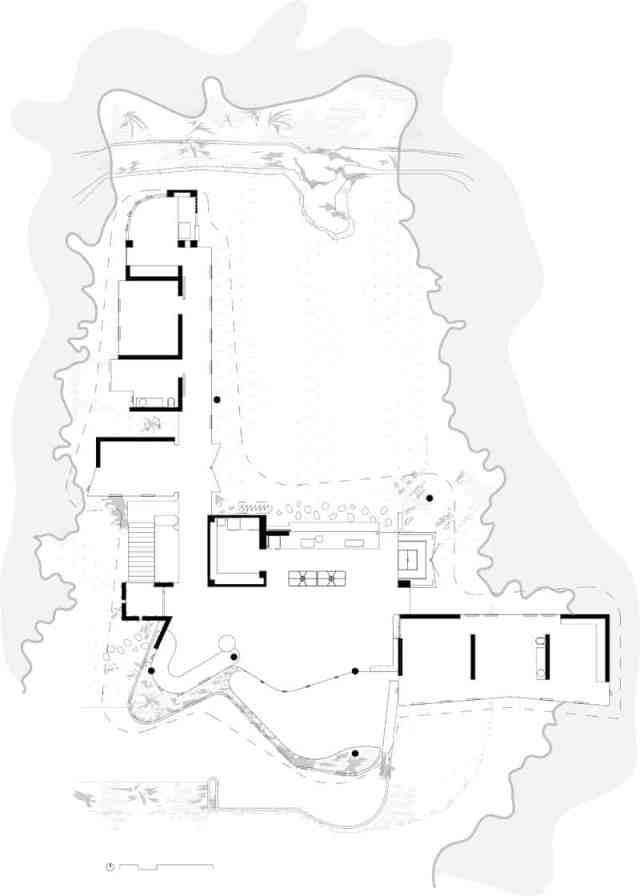 彫刻的コンクリートのホモ美学によって定義されたオーストラリアの熱帯プランコネラハウス(23)