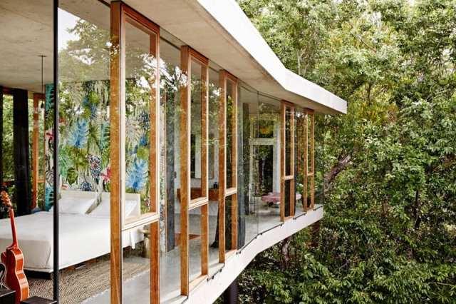 彫刻的コンクリートの美学によって定義されたオーストラリアの熱帯プランコネラハウス(3)