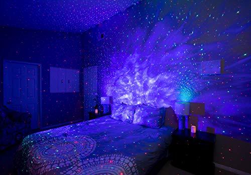 BlissLights Sky Lite-部屋の装飾、ホームシアターの照明、または寝室の夜の光のムードの雰囲気のためのLED星雲ギャラクシーを備えたレーザースタープロジェクター-ブルーコバルト