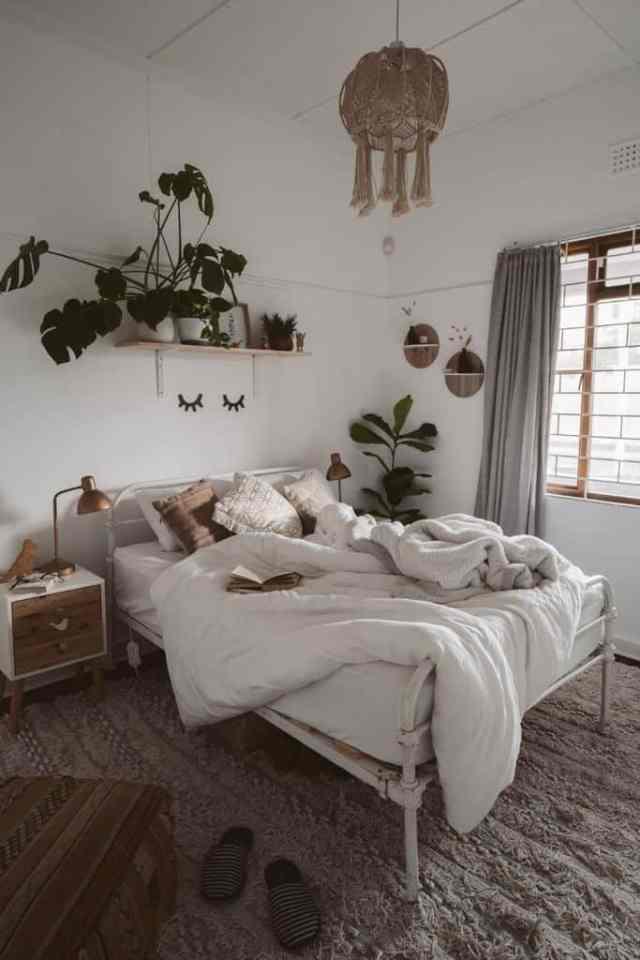 アパート自由奔放に生きる寝室のアイデア