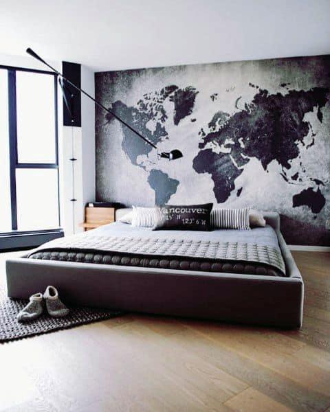 壁画と塗装壁寝室の壁の装飾のアイデア