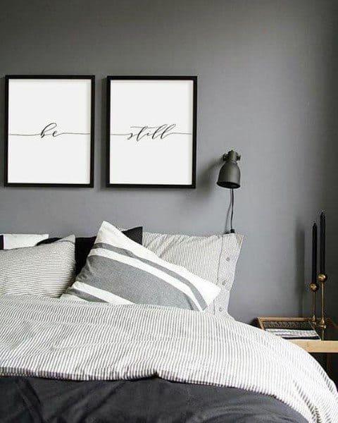 ポスターを印刷する寝室の壁の装飾のアイデア