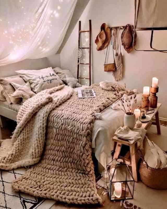 居心地の良い自由奔放に生きる寝室のアイデア2herzenstimme