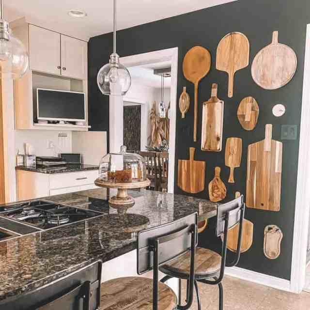 まな板の壁キッチンの壁の装飾のアイデアmyrusticmodernliving