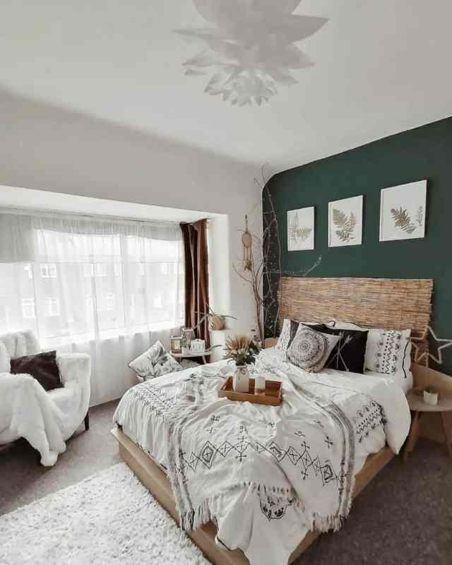 装飾自由奔放に生きる寝室のアイデアsol.de.lavanda