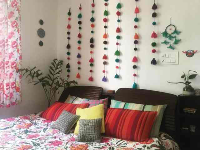 DIYの寝室の壁の装飾のアイデアMoonrythms