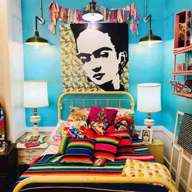 折衷的またはジプシー自由奔放に生きる寝室のアイデアsalazar.tinaart
