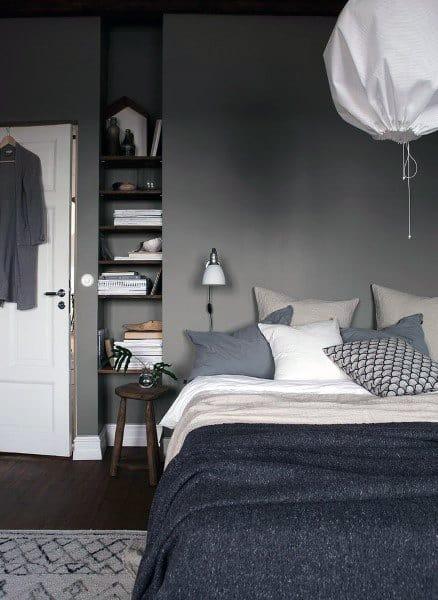 ミニマリストの寝室の照明のアイデア