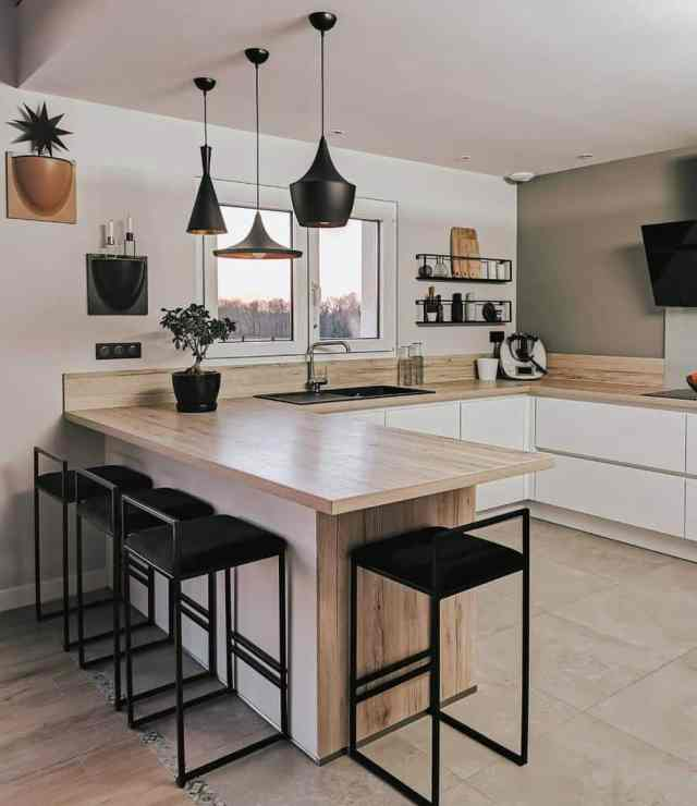 キッチン棚ディスプレイキッチン壁の装飾のアイデアonce.upon.a.home