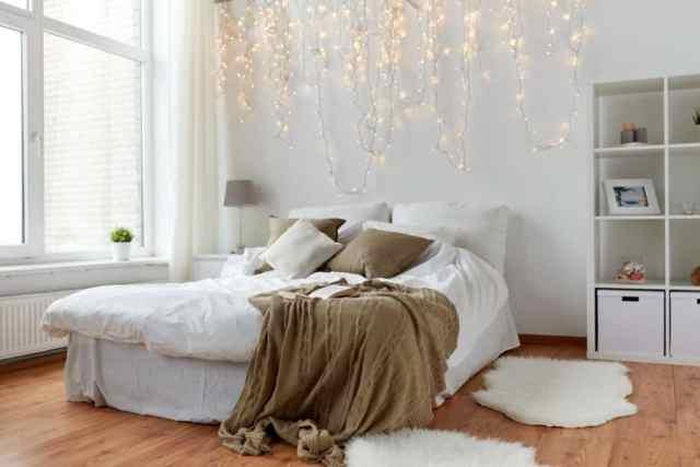 ロマンチックな寝室のアイデアの照明4