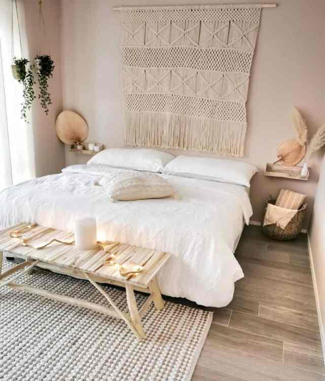 ミニマリストの自由奔放に生きる寝室のアイデアsoodecoo