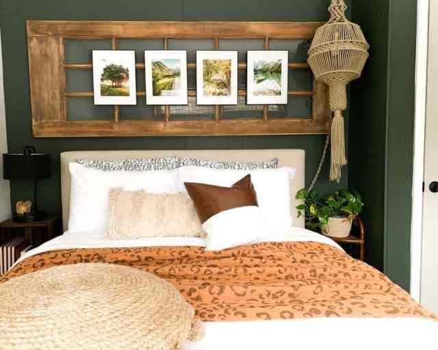 現代の自由奔放に生きる寝室のアイデアupdatemycape