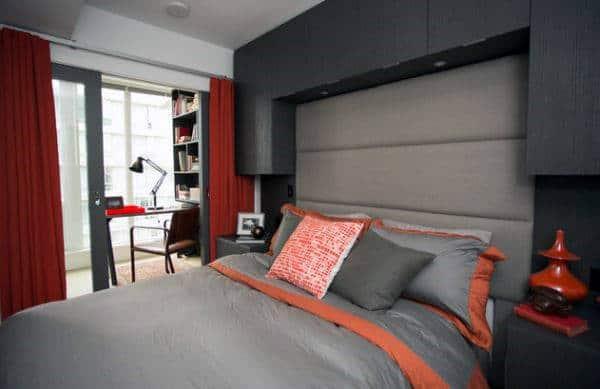 アパートのモダンなベッドルームのアイデア