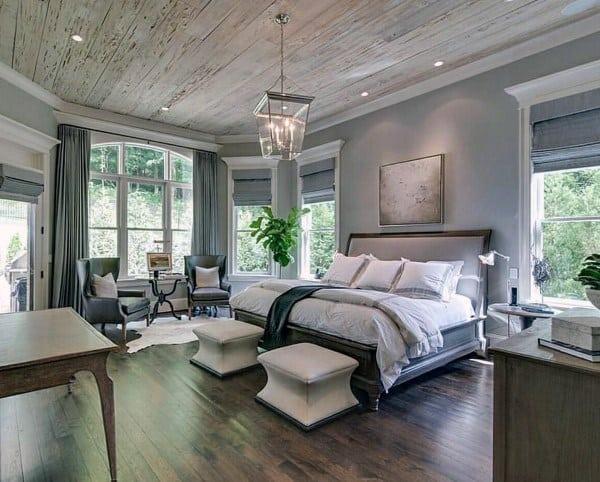 素朴または工業用寝室の照明のアイデア