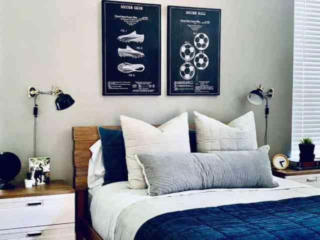 独身のモダンなベッドルームのアイデア