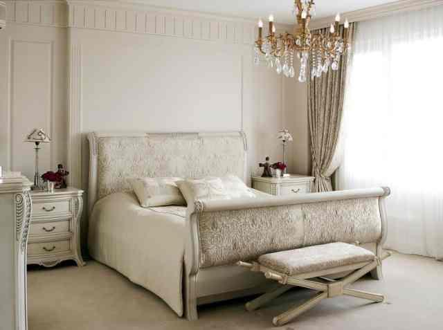 ヴィンテージのロマンチックなベッドルームのアイデア1