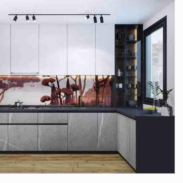 壁紙キッチンの壁の装飾のアイデアatg_design