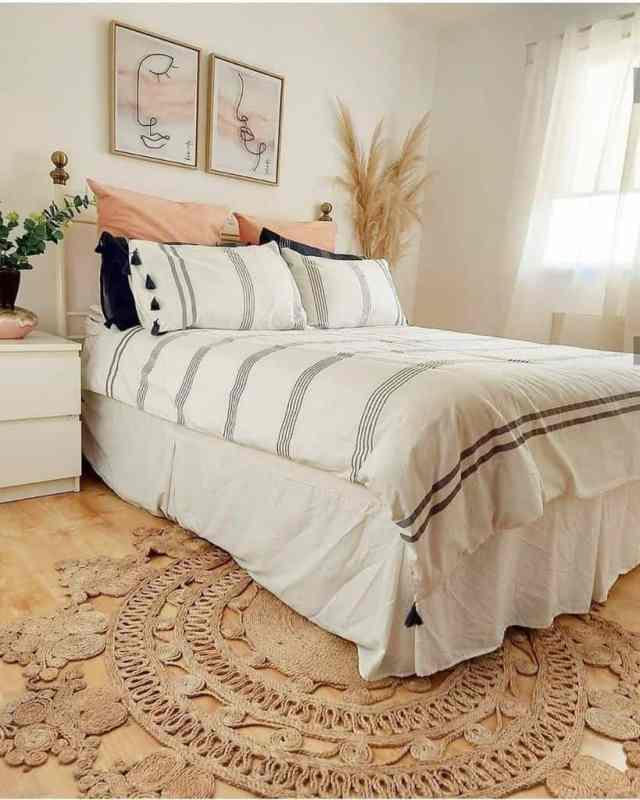 白い自由奔放に生きる寝室のアイデアnordichome.wales