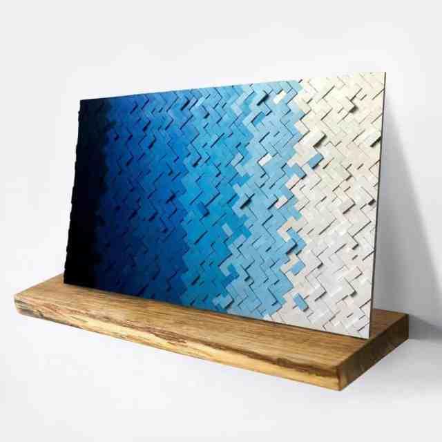 木製と金属の寝室の壁の装飾のアイデアSchondesignshop