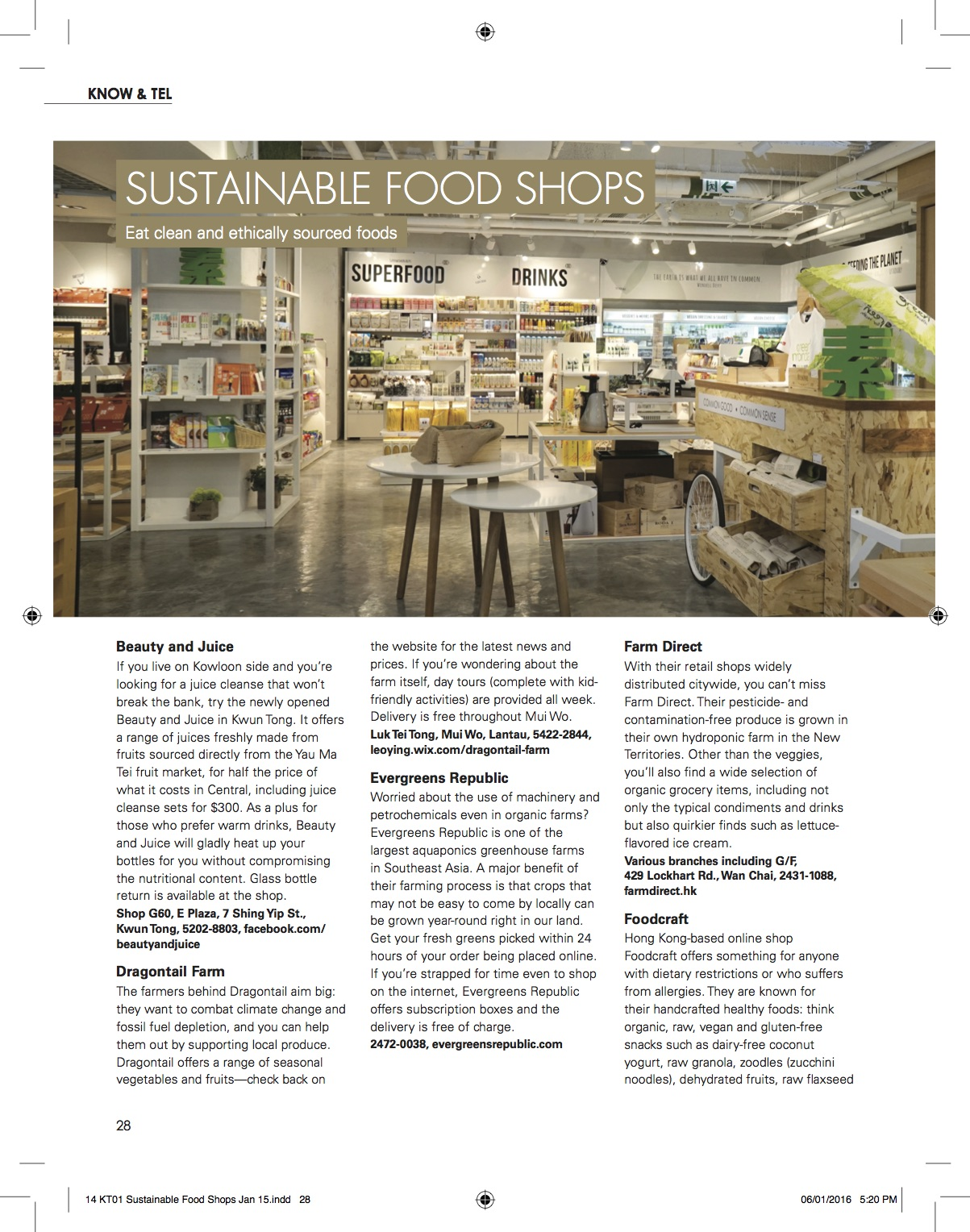 The List: Sustainable Food Shops
