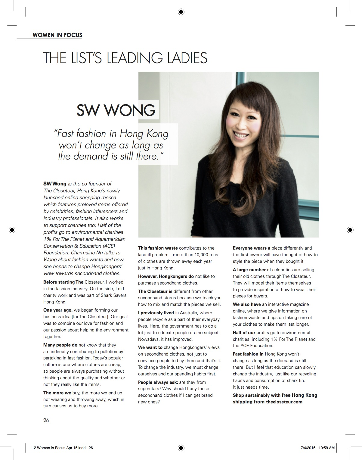 The List: SW Wong