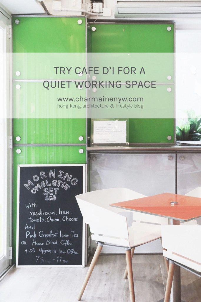 Try Café d'i for a Quiet Working Space