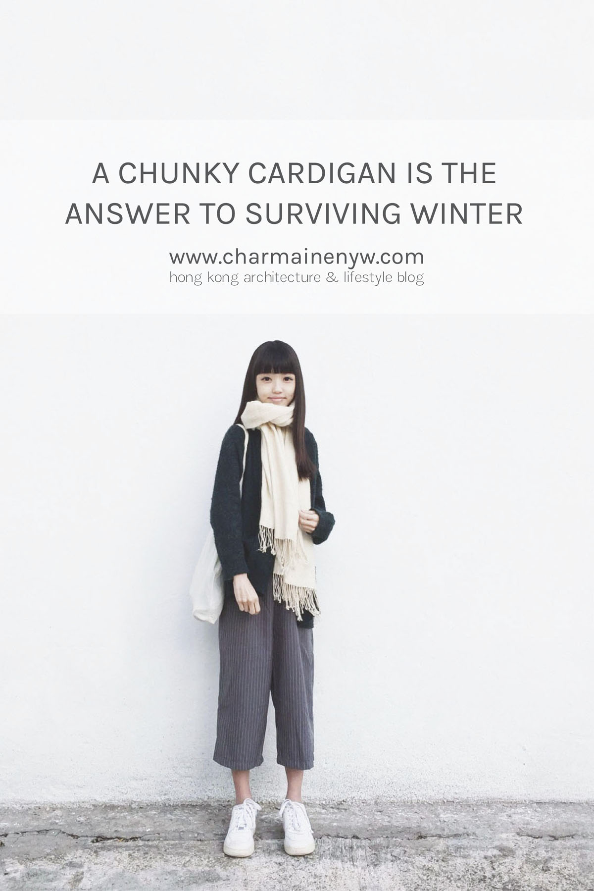 A chunky cardigan is sure to warm you up in winter