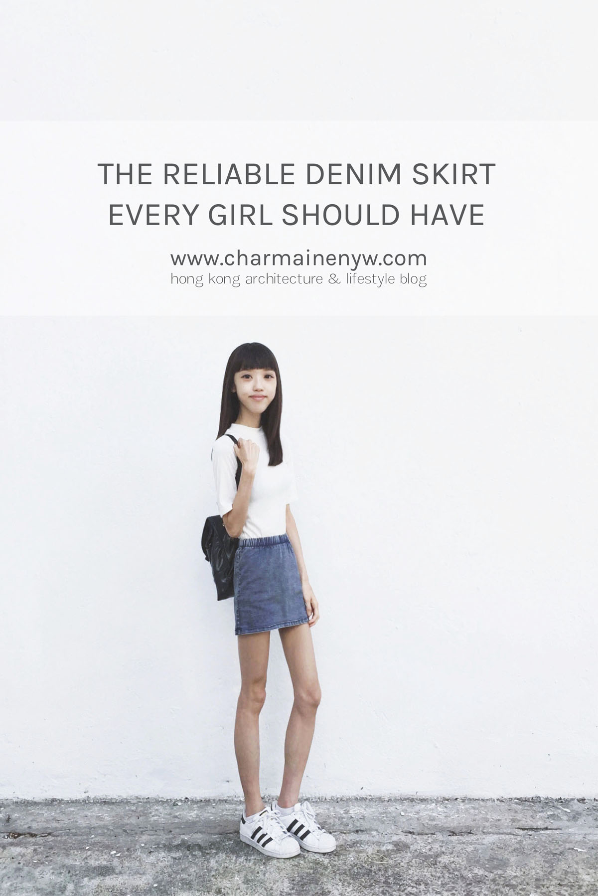 The denim skirt, a reliable piece every girl should have