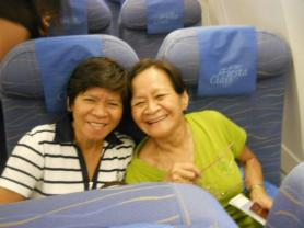 their first picture aboard a plane. lol.