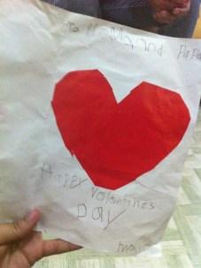 To Mama and Papa, Happy Valentines Day... Maia