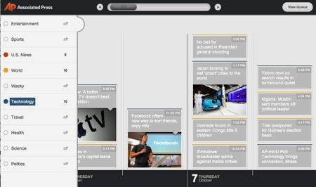 AP HTML5 Timeline News Reader
