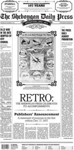 Sheboygan Press 107th Anniversary edition