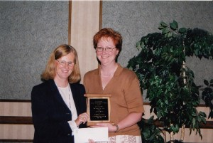 Photo of Best Student Award Presentation, CHARM 2001