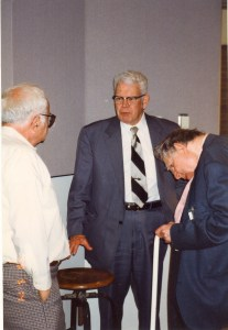 Photo of Roger Dickinson, Don Dixon and Stan Hollander at 1999 CHARM Conference