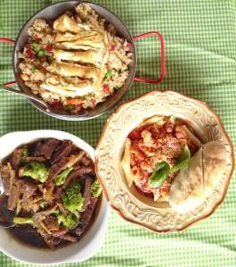 Yangchow Rice/Penne Seafood Marinara/Beef Brocolli