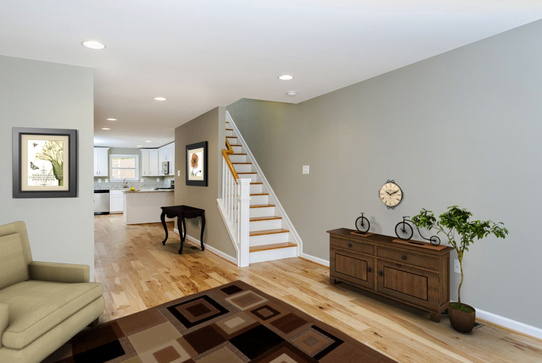 Virtual Staging of Living Room in Baltimore MD