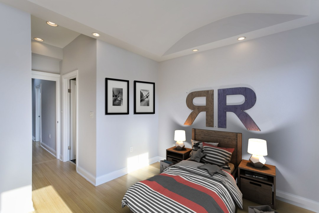 Virtual Staging of Bedroom in Baltimore MD