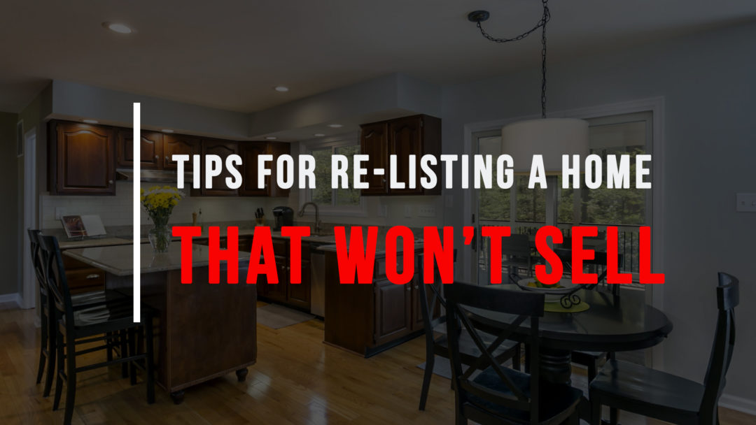 re-listing a home