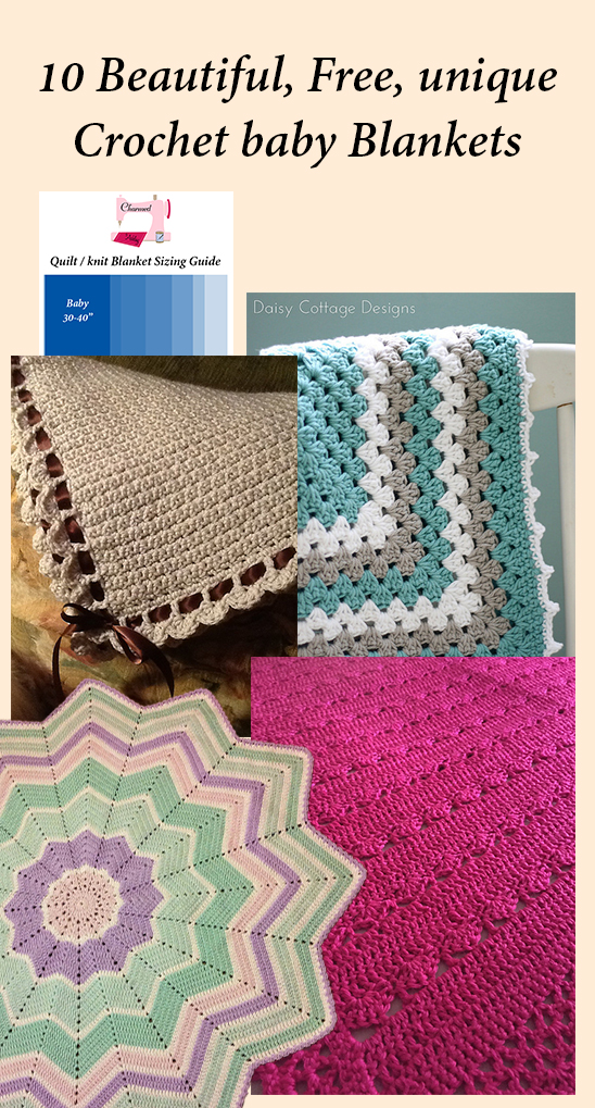 10 Different Beautiful And Free Crochet Baby Blankets Charmed By
