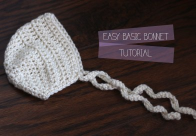 New born Basic Bonnet Pattern & Video