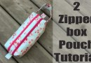 Two zipper box pouch